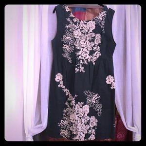 JCrew Grey Embroidered Sleeveless Dress w Pockets!